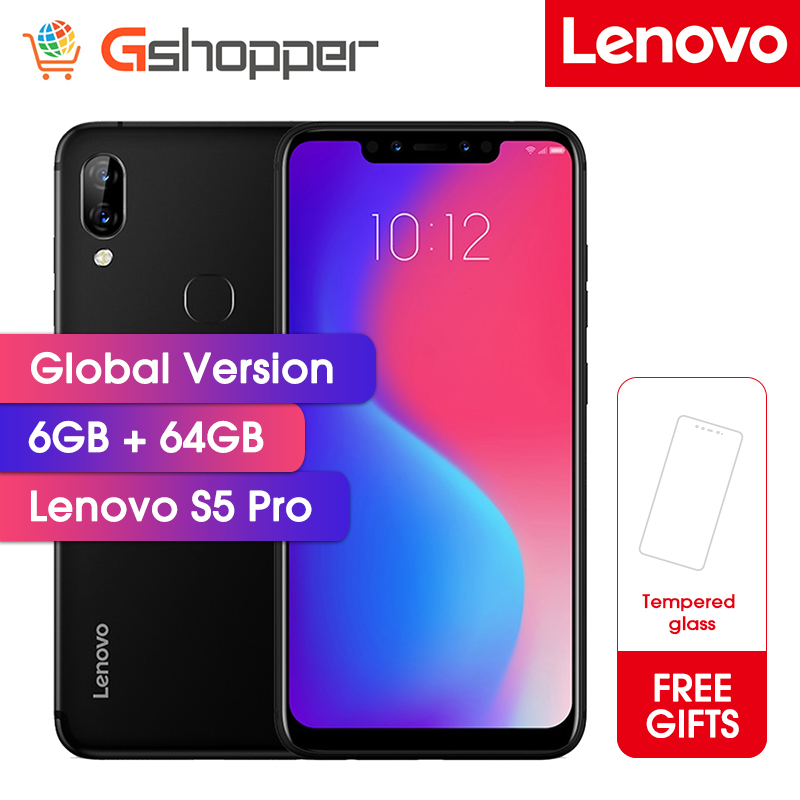 Lenovo S5 Pro 6G 64G Global Version 20.0MP Rear Camera Snapdragon 636 Octa-Core 1.8GHz 3500mAh Battery Face ID Mobile Phone