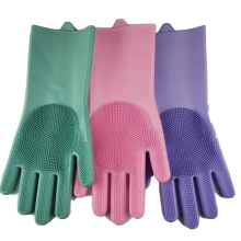 Kitchen Silicone Cleaning Gloves Magic Dish Washing For Household  Dishwashing Scrubber Rubber