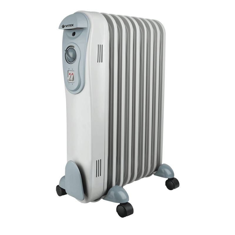 Heater oil Vitek VT-2122 GY (Power 2000 W, 3 modes of operation, heating area up to 25 sq. M, overheating protection)