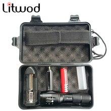 Litwod светодиодный тактический фонарь XML L2 водонепроницаемый 5000лм зум 5 режимов переключения алюминиевый велосипедный светильник для велоспорта кемпинга