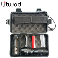 Litwod LED tactical flashlight torch XML L2 waterproof 5000lm zoom 5 switch modes Aluminum Bicycle light For Cycling camping(China)