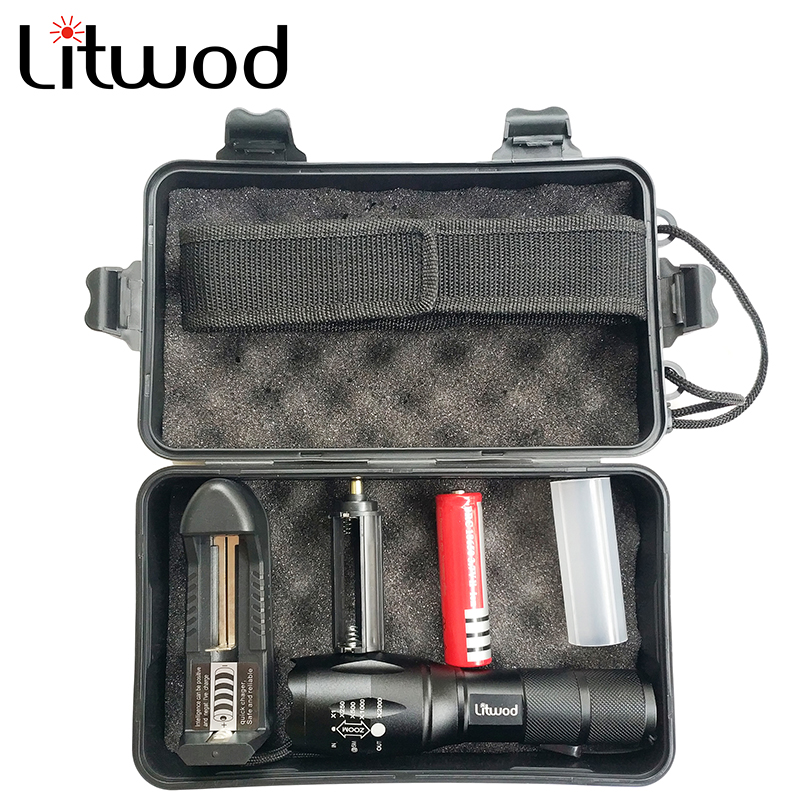 Litwod LED Tactical Flashlight Torch XML L2 Waterproof 5000lm Zoom 5 Switch Modes  Aluminum Bicycle Light For Cycling Camping