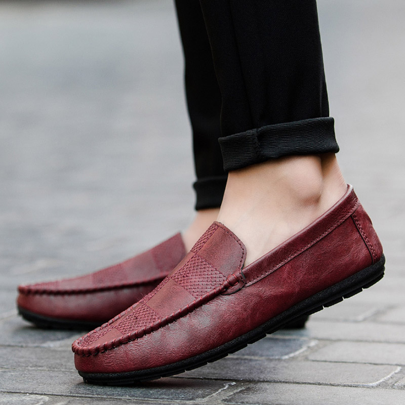 Tangnest New 2018 Spring Men Loafers Outdoor Breathable PU Leather Casual Shoes Fashion Lazy Men Flats Moccasins XMR2850Tangnest New 2018 Spring Men Loafers Outdoor Breathable PU Leather Casual Shoes Fashion Lazy Men Flats Moccasins XMR2850