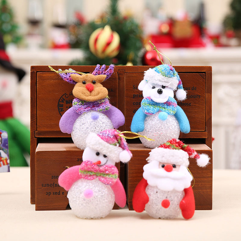 New Year Christmas Decoration for Home accessories Glowing EVA Snowman Nightlight Snowman Christmas Tree gifts Navidad Natal (3)