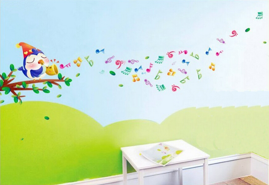 Aliexpress.com : Buy Stickers AY645 Wall Sticker Music Of The Birds Can Remove  Wall PVC Transparent Film Stickers From Reliable Stickers Ballon Suppliers  On ... Part 42