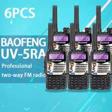 (6 PCS)Baofeng UV5RA Ham Two Way Radio Dual-Band 136-174/400-520 MHz baofeng uv-5ra walkie talkie radio Transceiver Black