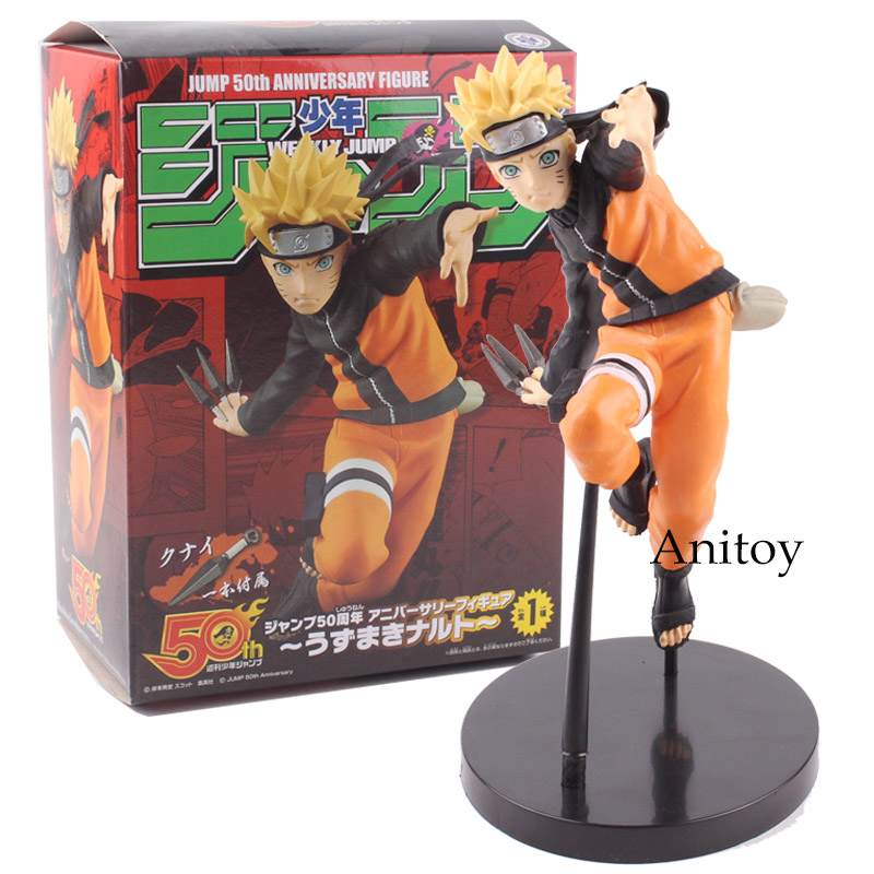Naruto Figure Whirlwind Naruto WEEKLY JUMP 50th Anniversary Ver. PVC Action Figure Collectible Model Toy 18cm KT4761