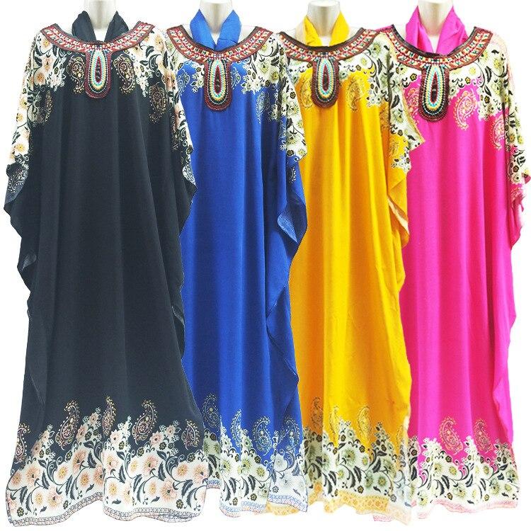 Mix Size 4Colors New Fashion Big ABAYA Women s Wear Muslim rayon Cotton Prayer Robe