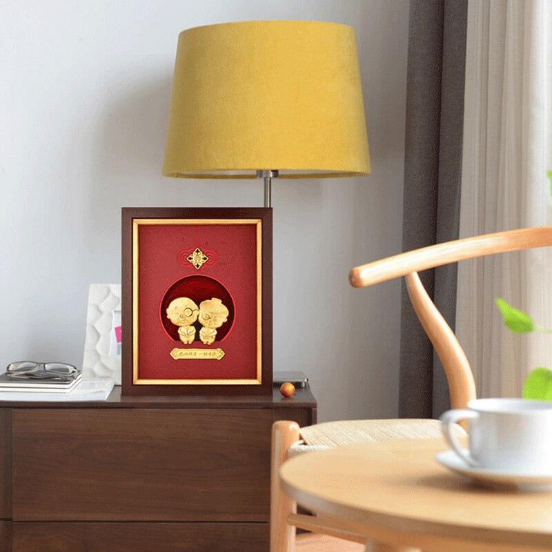 Asklove 24k feuille d'or peinture décor de mariage fête d'anniversaire cadeaux Parents cadeaux d'anniversaire mur Art photos décoration de la maison