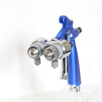 High Quality Air Brush HVLP Spray Gun Paint Spray Tool Air Compressor Double Nozzle Nanometer Spray Gun Two Component Nozzle