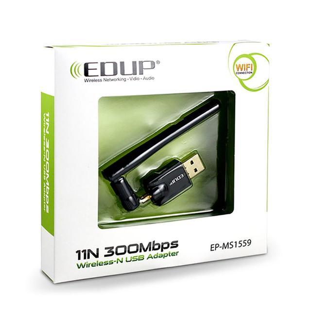 EDUP EP-MS1559 300Mbps 802.11n USB sans fil réseau adaptateur WiFi avec antenne USB Ethernet WiFi récepteur