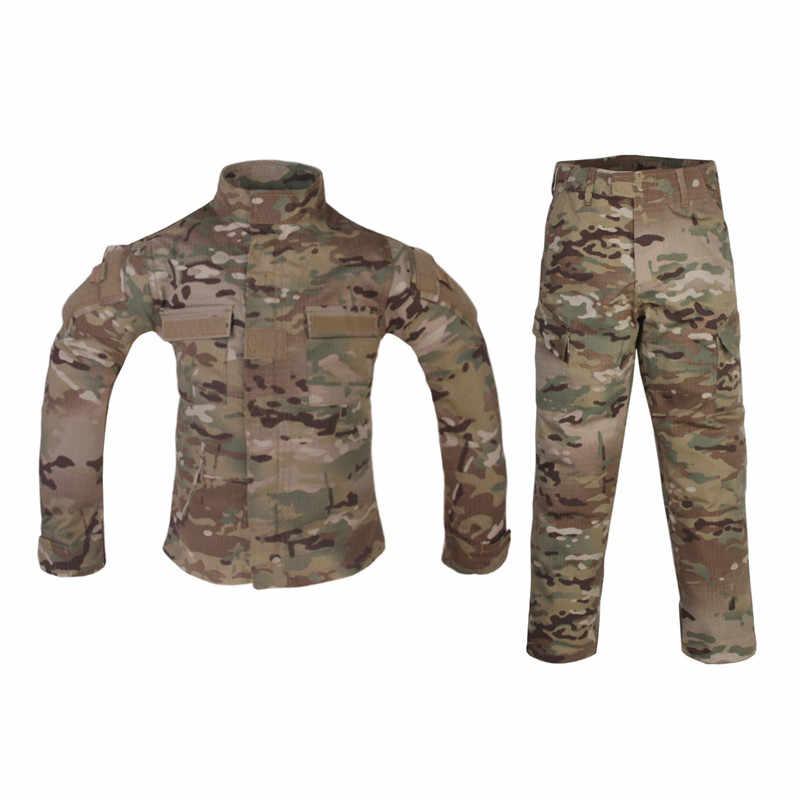d001502ca EmersonGear Combat Uniform MultiCam Apparel Kids Tactical Children Jacket &  Pants Outdoor Hunting CS Games For:6Y-14Y Childre
