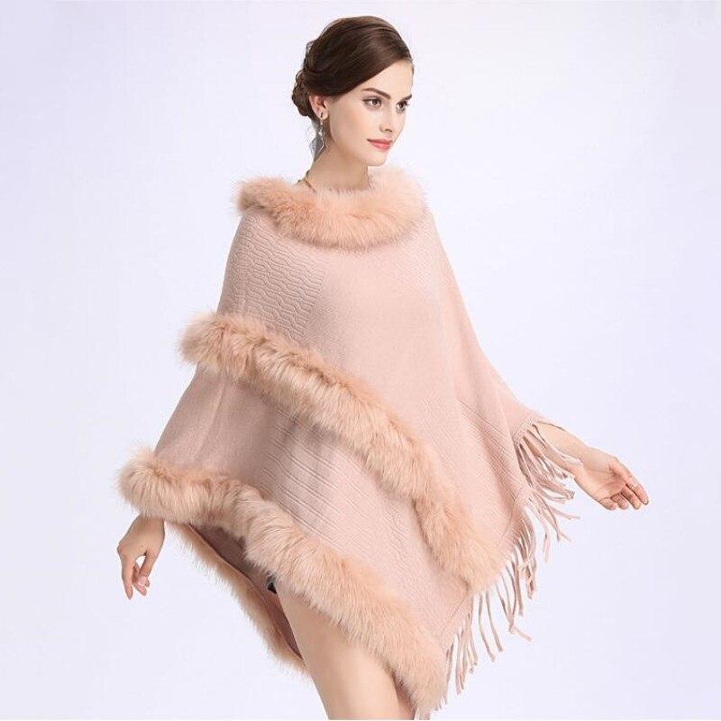 O Tricots 2018 Tendance Gland Qualité Châle Noir Mode Haute kaki hiver Femmes Automne gris rose Cape Manteau Nouveau Lâche cou Vêtements wqBAYPnx1t