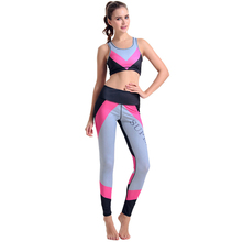 Breathable Women's Sport Yoga Sets Gym running Workout Clothes Sports Pants Bras Suits Sportswear Sleeveless Top Fitness Pants