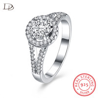 DODO Classic Round Wedding Rings For Women Genuine 925 Sterling Silver Jewelry Aaa Zircon Bague Bijoux