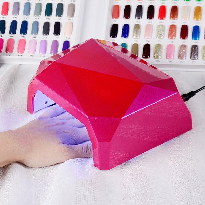 SUNUV SOLE A Forma di Diamante UV lampada Del Chiodo Del LED 18 LEDs Nail dryer per Tutti I Gel con 10 s/30 s/60 s pulsante Perfetto Pollice soluzione
