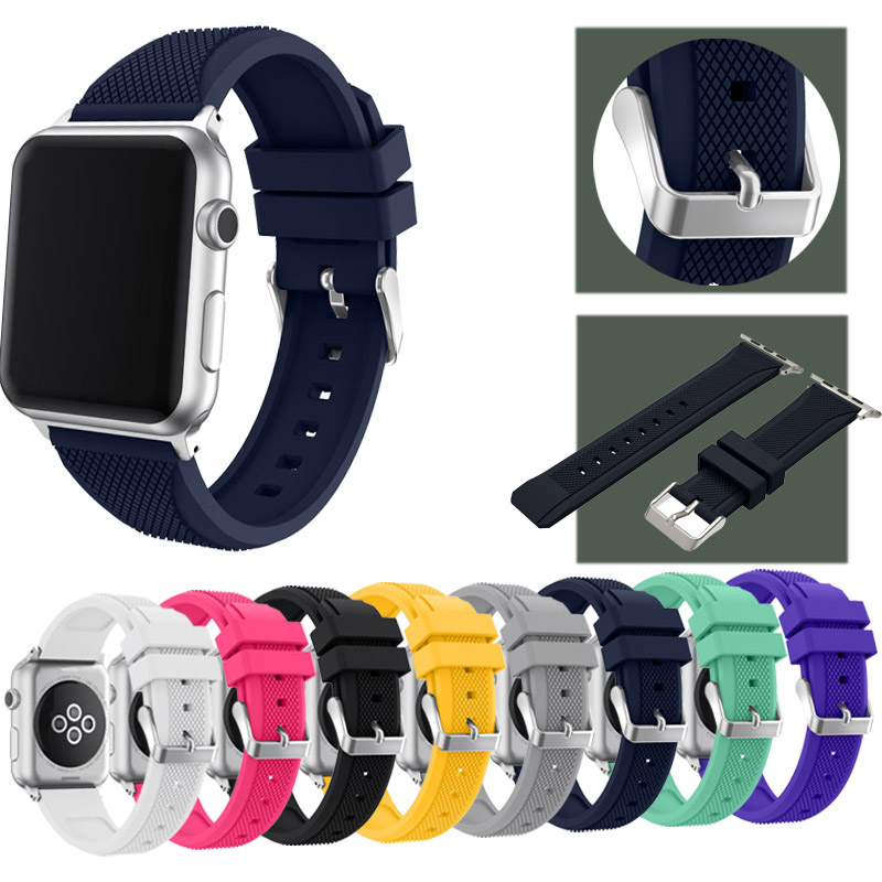 Apple Watch Band for Series 1 Series 2 Joyozy Soft Silicone Sports Replacement Strap Band for