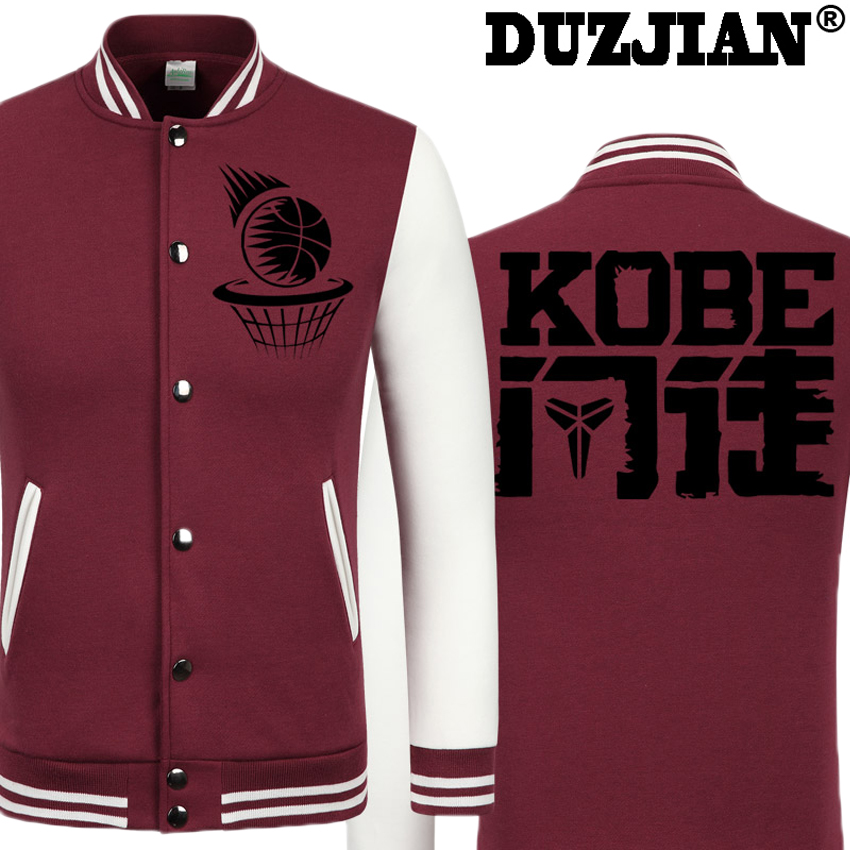 2016 Spring new Chinese characters Laker Kobee Branty casual font b jacket b font cheap men