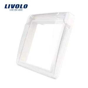 Livolo EU Standard Socket Waterproof Cover,Plastic Decorative For Socket, 4 colors ,C7-1WF-1,do not include the socket