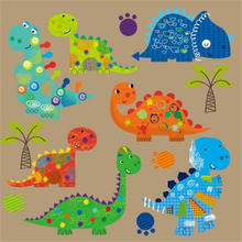 Модная одежда из ПВХ с заплатками 24 см футболка принтом динозавра