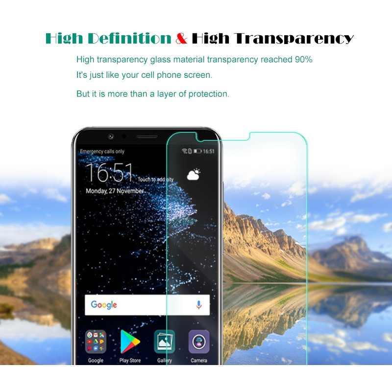 V10 2 PCS Premium de Vidro Temperado para Huawei Honor Caso Temperado película protetora Protetor de Tela Clara Para Honrar Ver 10 vidro
