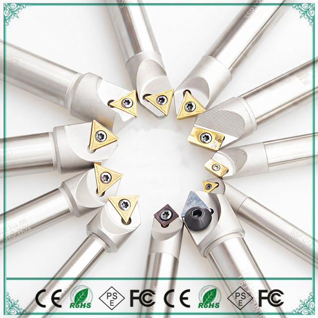 Full range CNC Milling Machine Lathe Chamfering knife Double angle 60 degrees 90 degrees 120 degrees 30 degrees 1pcs