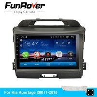Funrover Android 8.0 Quad 4 core car dvd for KIA sportage 2011 2012 2013 2014 2015 radio gps navigation 2 din car multimedia rds