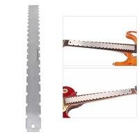 Dual Schaal Rvs Gitaar Hals Notched Rechte Rand Luthiers Tool Meting Fretboard en Frets Gitaar Accessoires