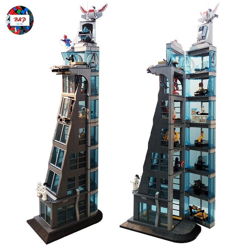 Super Hero Attack On Avenger Tower 76038 1209pcs Upgraded Version Building Block set Bricks Toys For children Gift SH678