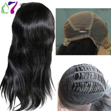 8A Straight Full Lace Wig Virgin Brazilian Human Hair Glueless Lace Frontal Wigs For Black Women With Baby Hair Shipping Free