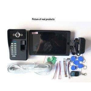 Image 5 - 7インチ有線/ワイヤレスwifi指紋rfidパスワードビデオドア電話ドアベルインターホン1000tvl有線カメラappロックを解除レコード