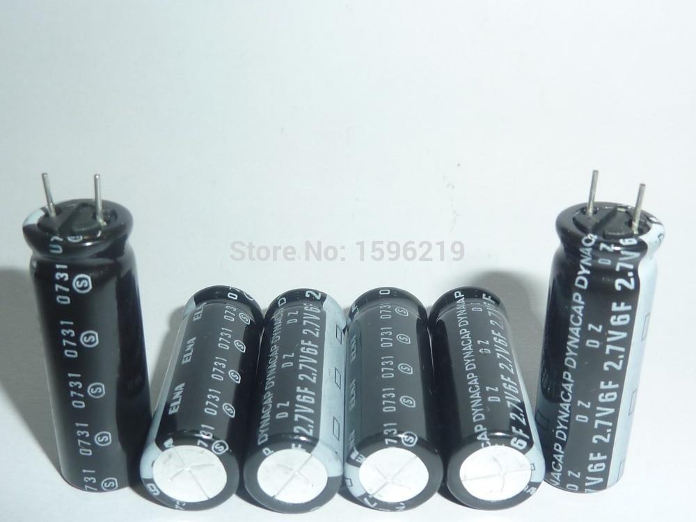 2PCS 2.7V6F 2.7V DZ 10X30mm ELNA DYNACAP Farad Super Capacitor