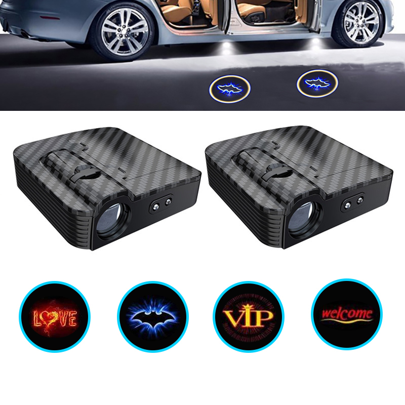 1pcs Wireless Led Car Door Welcome Laser Projector Logo Ghost Shadow Light For Ford Volkswagen Bmw Toyota Hyundai Kia Mazda Audi