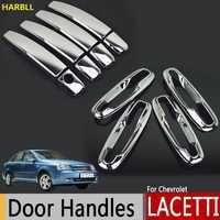 Chrome drzwi zewnętrzne osłona klamki dla Chevrolet Lacetti Optra Daewoo Nubira Suzuki Forenza Holden Viva naklejki Car Styling