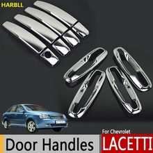 Chrome Exterior Door Handle Cover For Chevrolet Lacetti Optra Daewoo Nubira Suzuki Forenza Holden Viva Stickers Car Styling