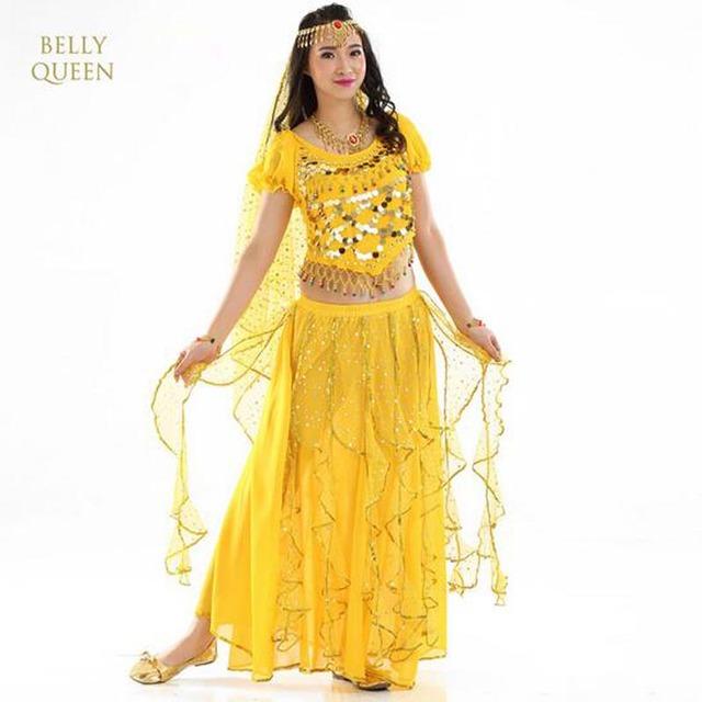 Belly Dance Costumes For Women / Indian Performance Dance wear/ Oriental Dance Clothing 4pcs/Set