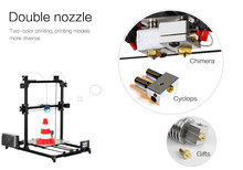 3D Printer Full Metal  Plus Size 300x300x420mm  Dual Extruder Touch Auto-leveling Heated Bed Filament