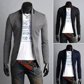 4dc86224cdf198 Korean Mens Slim Fit Premium Button Jacket China Collar Short Blazer Coat