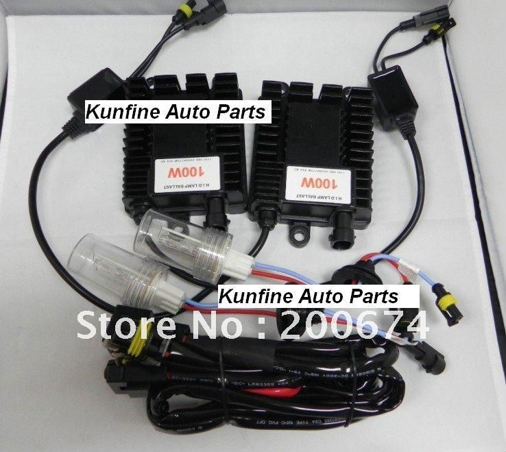 FREE shipping ! 12v/100w H1/H3/H4 single bulb/H7/H8/H11/D2S/C/R/9005/9006 Auto HID KIT with high power quality ballast h