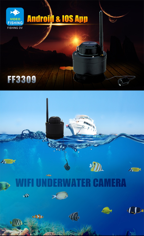 Wifi wireless fish finder waterproof 80m underwater for Iphone fish finder