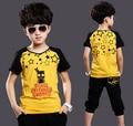 Summer Suits Children's Clothing Set Kids Boys Clothes Sets Cotton T shirt + Half Pants 2 pieces Suit Kid Boy Casual Sport Suits
