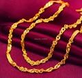Venta caliente 999 Sólido 24 K Oro Amarillo Collar de Cadena/Collar de Cadena de La Boda/2.35g