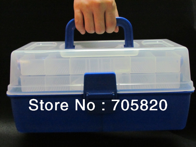 New Arrival,3 layer big fishing tackle box,682G plastic fishing tool case,30cm*17.5cm*13.5cm,Free shipping