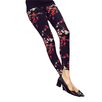 Rose Flower Printed Legging 1
