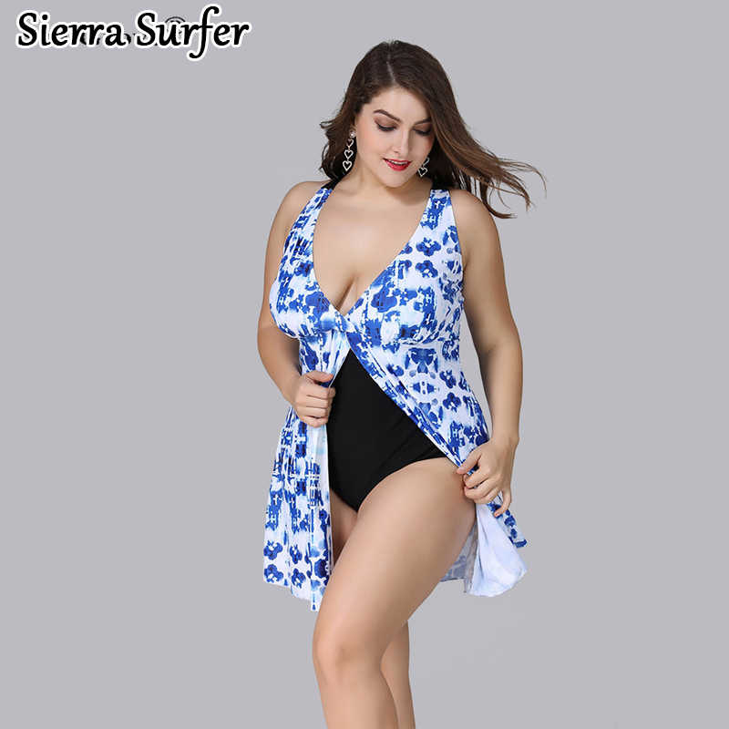 2e2583231c29c Plus Size Swimwear Large Size Big Swimsuit Woman Swimwear For Fat Women  Vintage High Waisted With