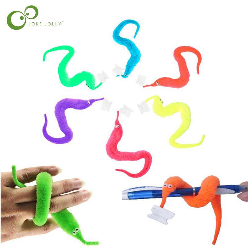 10 sztuk pluszowe magiczne Twisty robak dzieci sztuczka gąsienica zabawki dla dzieci dzieci magia gry zabawki ZXH