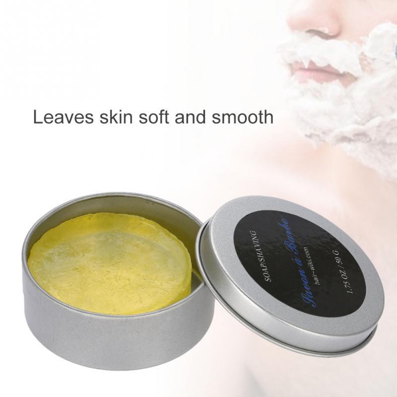 1.75OZ/50G Shaving Soap For Men Handmade Wet Shaving Soap Rich Lather Facial Beard Cleaning Shave Cream Tools Shaving Soap 1Pcs