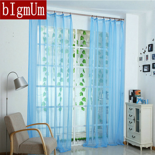 Hot Sale Decorations Soft Tulle Curtains For Home White/pink/yellow /green/