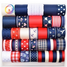 37 Design Mix Navy Ribbon SetHigh quality For Diy Handmade Gift Craft Packing Hair Accessories Wedding Materials Package 37Yard