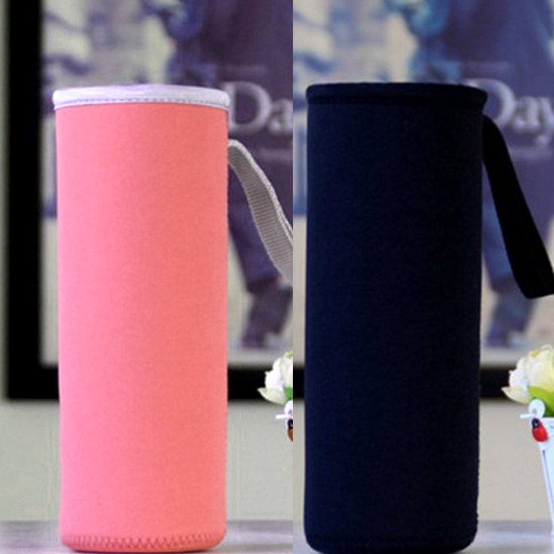 1PC Hot Sleeve Bag Carrier Water Bottle Cover Insulation Bottal Sets Neoprene Pouch Solid Color image